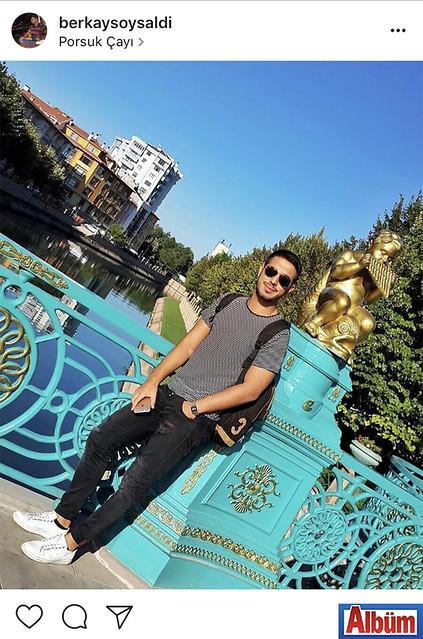 Stajyer Avukat Berkay Soysaldı, Porsuk Çayı manzarasında çektirdiği bu fotoğrafı takipçileriyle paylaştı.