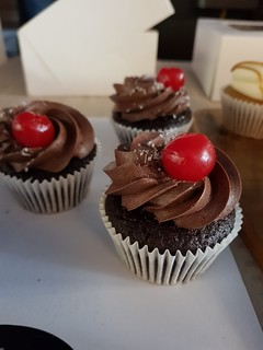 Chocolate Cherry Cloverly Cupcakes at Brisbane Vegan Markets