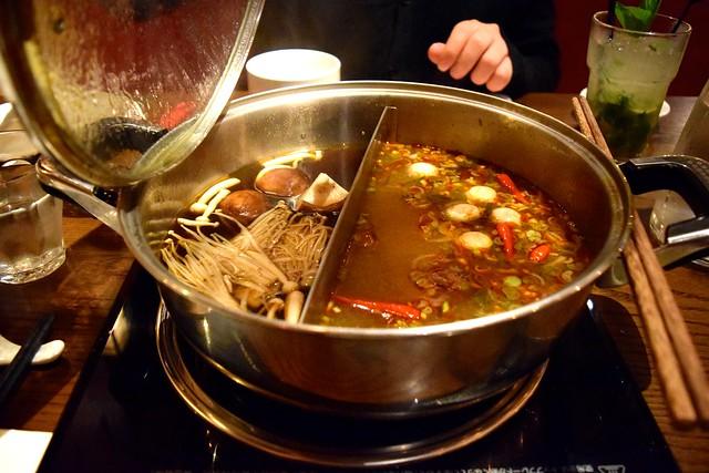 Mushroom & Tom Yum Broth at Hot Pot, Chinatown | www.rachelphipps.com @rachelphipps