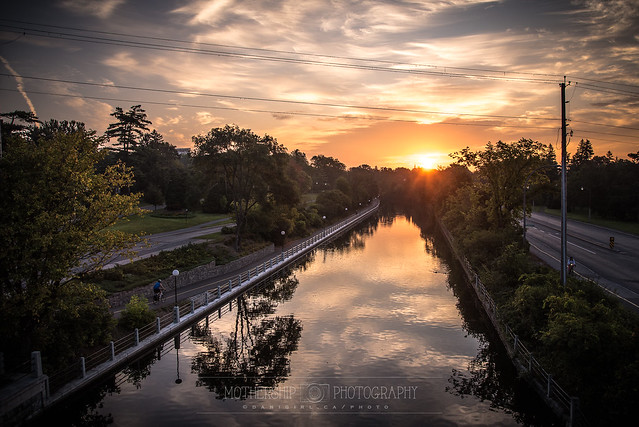 Sunrise on the Rideau Canal