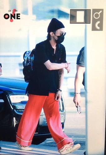 G-Dragon departure Seoul ICN to Sydney, Australia 2017-08-03