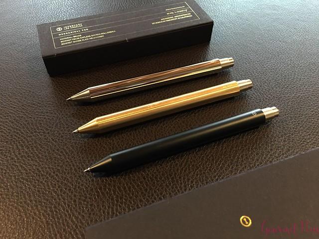 Review @InventeryCo Mechanical Pens - Brass, Chrome, Onyx 20