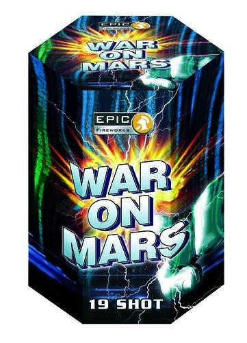 War On Mars 19 Shot 30mm Firework Cake #EpicFireworks