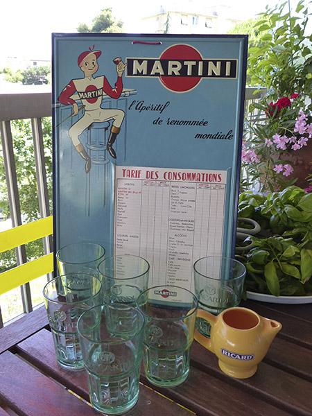 martini, bacardi et ricard