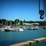 Scene at Preston Docks