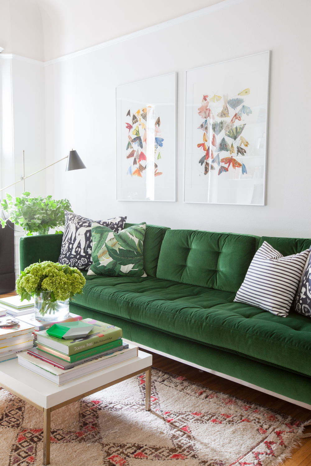 9 Sofas That Will Make You Rethink Your Neutral Decor | Emerald Green Sofa Couch