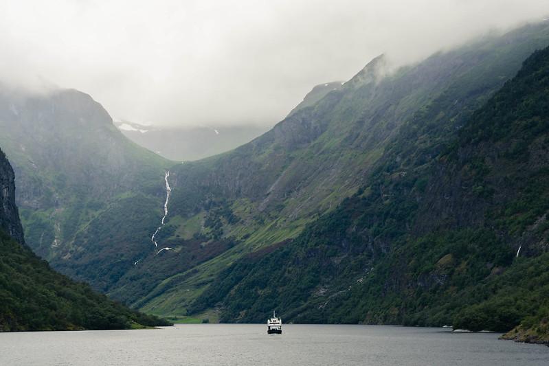 Imagen del Sognefjord, el fiordo más grande de Noruega y el segundo del mundo