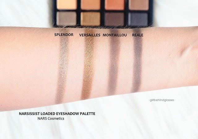 NARSissist Loaded Eyeshadow Palette swatches row3