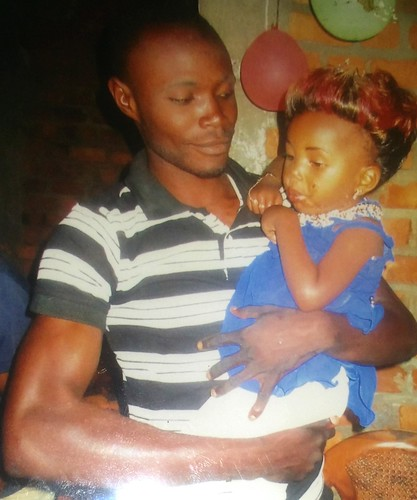 Michel with Manaka's daughter