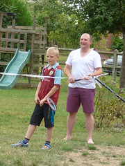 evening games @ Barentin - dad and lad