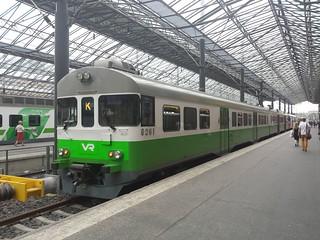 HSL Train Station Route K in Helsinki, Finland