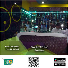 Kiwi Restro Bar- Buy 2 and Get 2 Free' on Drinks