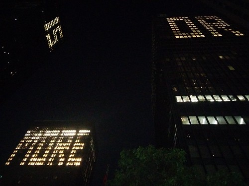 """Less is more or"" (6) #toronto #financialdistrict #torontodominioncentre #audemoreau #lessismoreor #lights #tower #skyscraper #miesvanderrohe #minimalism"
