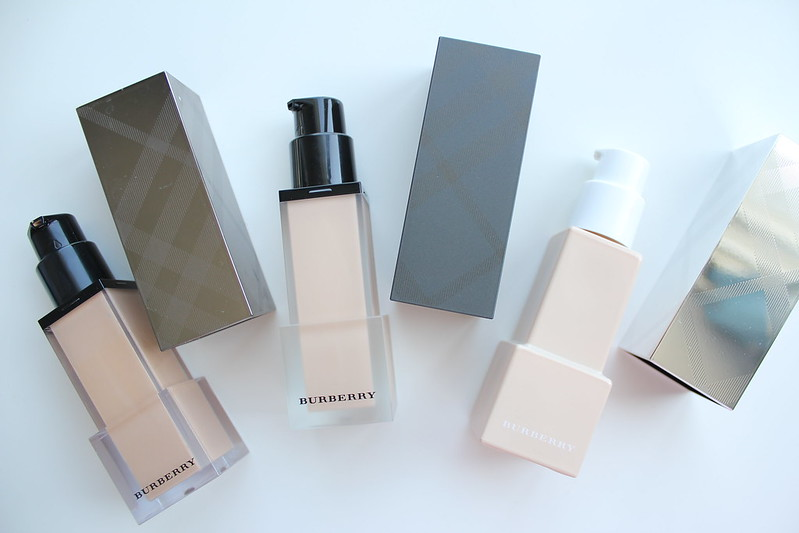 Burberry Fresh Glow, Cashmere, and Bright Glow liquid and compact foundation review