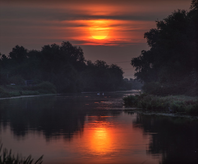 Dawn over the River Great Ouse, Ely, 21st August 2017