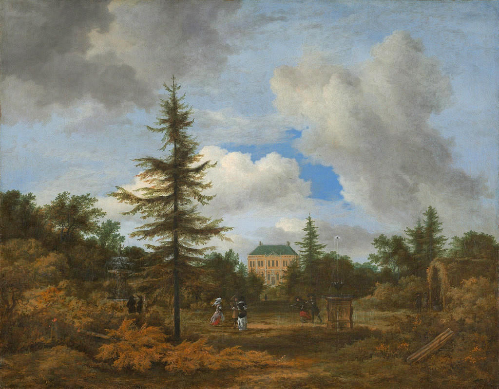 Country House in a Park by Jacob van Ruisdael, 1670
