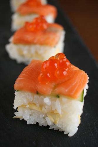 押し寿司いろいろ作ってみました