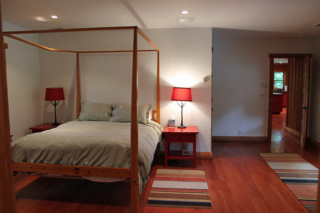 First floor master suite with full bath;