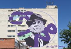 LEONARD COHEN  | 2017  MURAL  |   LE PLATEAU | KEVIN LEDO  |  COOPER BUILDING  |   MONTREAL  |  QUEBEC  |  CANADA