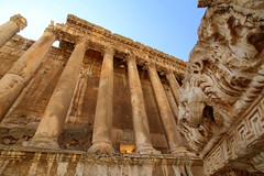 The temple of Bacchus at Baalbek, Lebanon (Unesco world heritage)