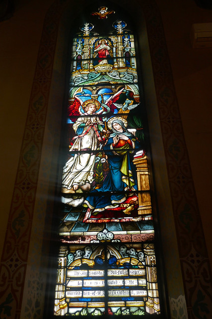 Annunciation stained glass window (St. Mary's Catholic Church)