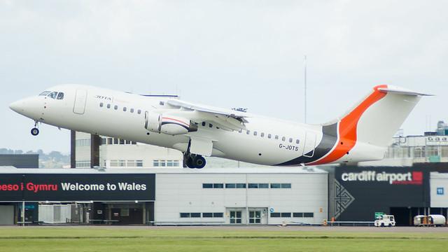 G-JOTS - Jota Aviation BAe 146 @ Cardiff Airport 190817