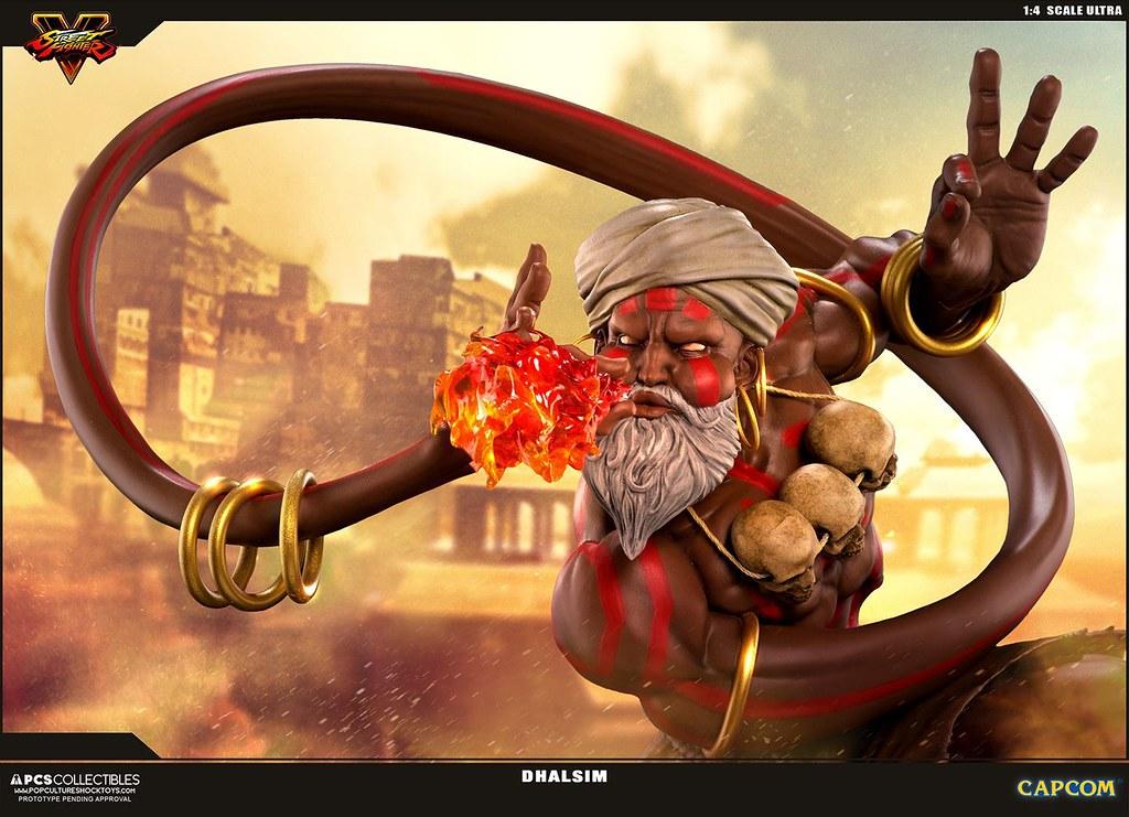伸縮自如的印度苦行僧!!Pop Culture Shock 快打旋風V【達爾西姆】Street Fighter V Dhalsim 1/4 比例全身雕像作品