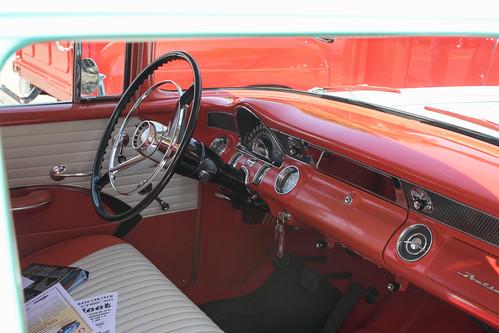 untouchable car show kalama washington wa usa 2017 1955 pontiac station wagon nautilus blue