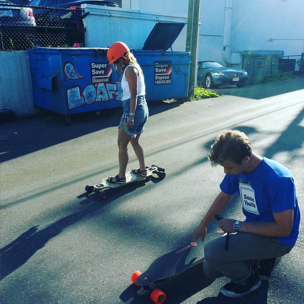 Eskates demos. #evolveskateboards #boostedboards