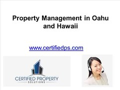 Property Management in Oahu and Hawaii - www.certifiedps.com