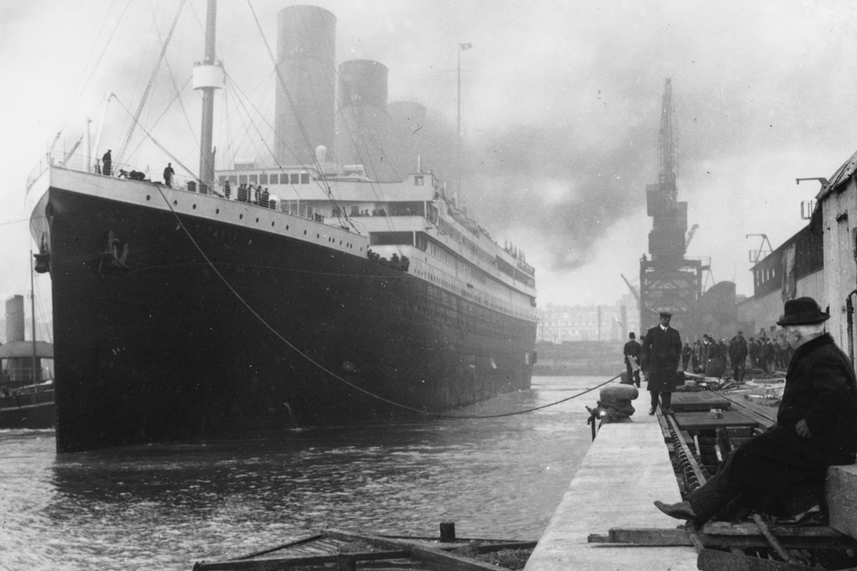 Titanic at Southampton, April 1912
