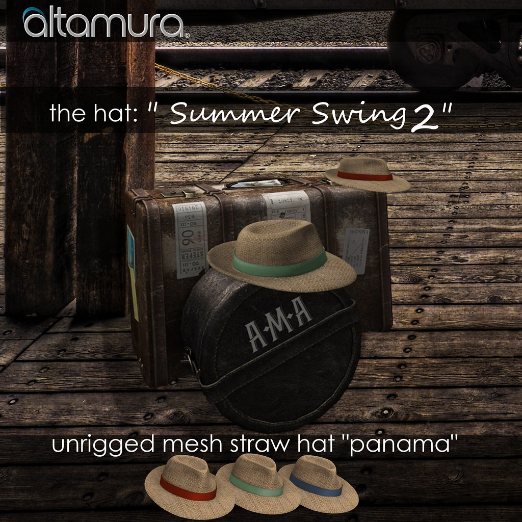 Altamura Summer Swing 2 Mesh Hat - SecondLifeHub.com