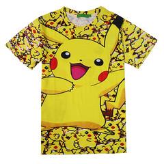 Pikachu on 8bit Pikachu Pattern 3D T-shirt
