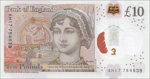 Jane Austen banknote front