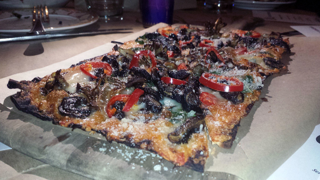 Seasonal mushroom flatbread from Cleo at SLS Las Vegas