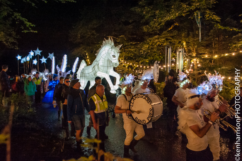The Illuminated Procession at Festival Number 6, Portmeirion, Wales, UK. 9th September, 2017.