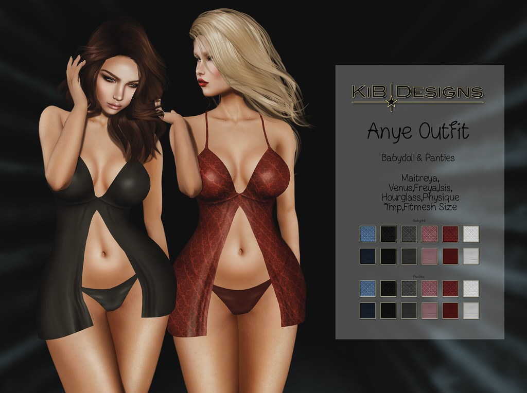 KiB Designs – Anye Babydoll & Panties @XXX Event