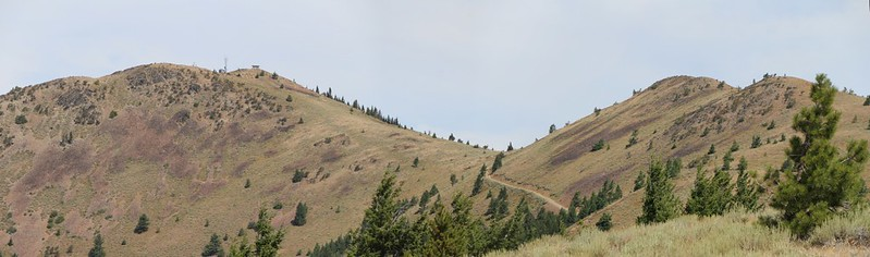 Zoomed-in shot of Dixie Butte and its south ridge