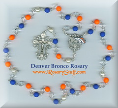 Denver Bronco Rosary for Mt St Vincent Auction 2017