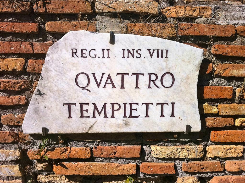 Callejero en Roma