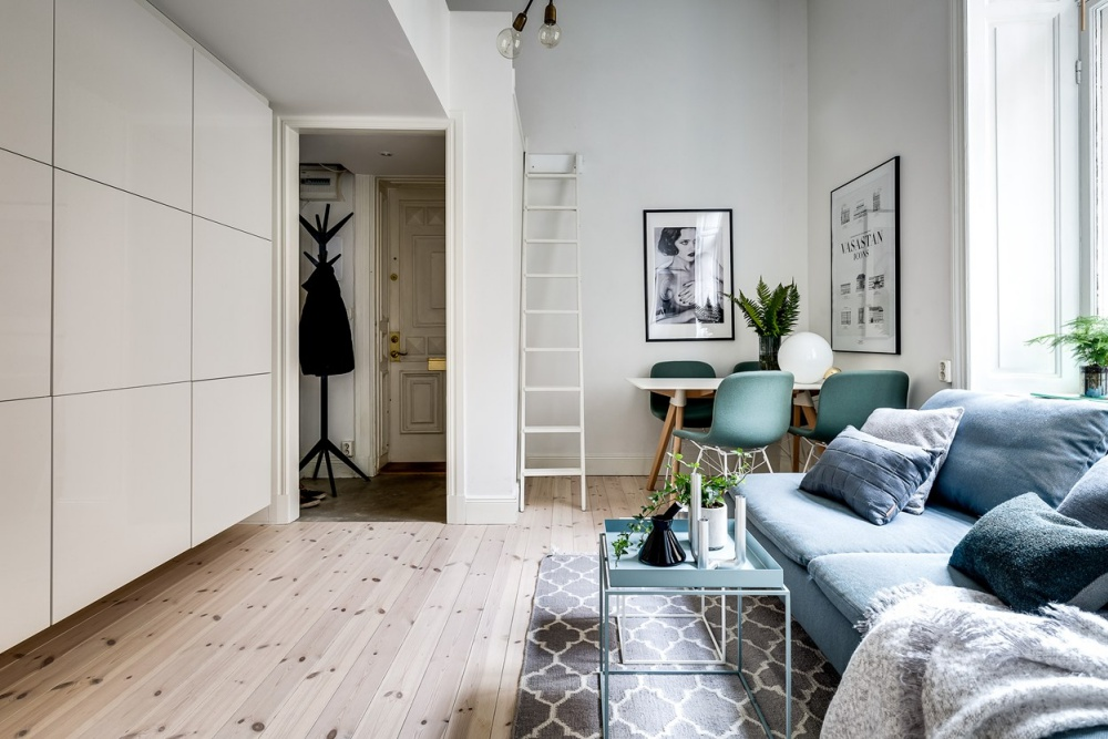 Scandinavian Home with Light Wood Floors