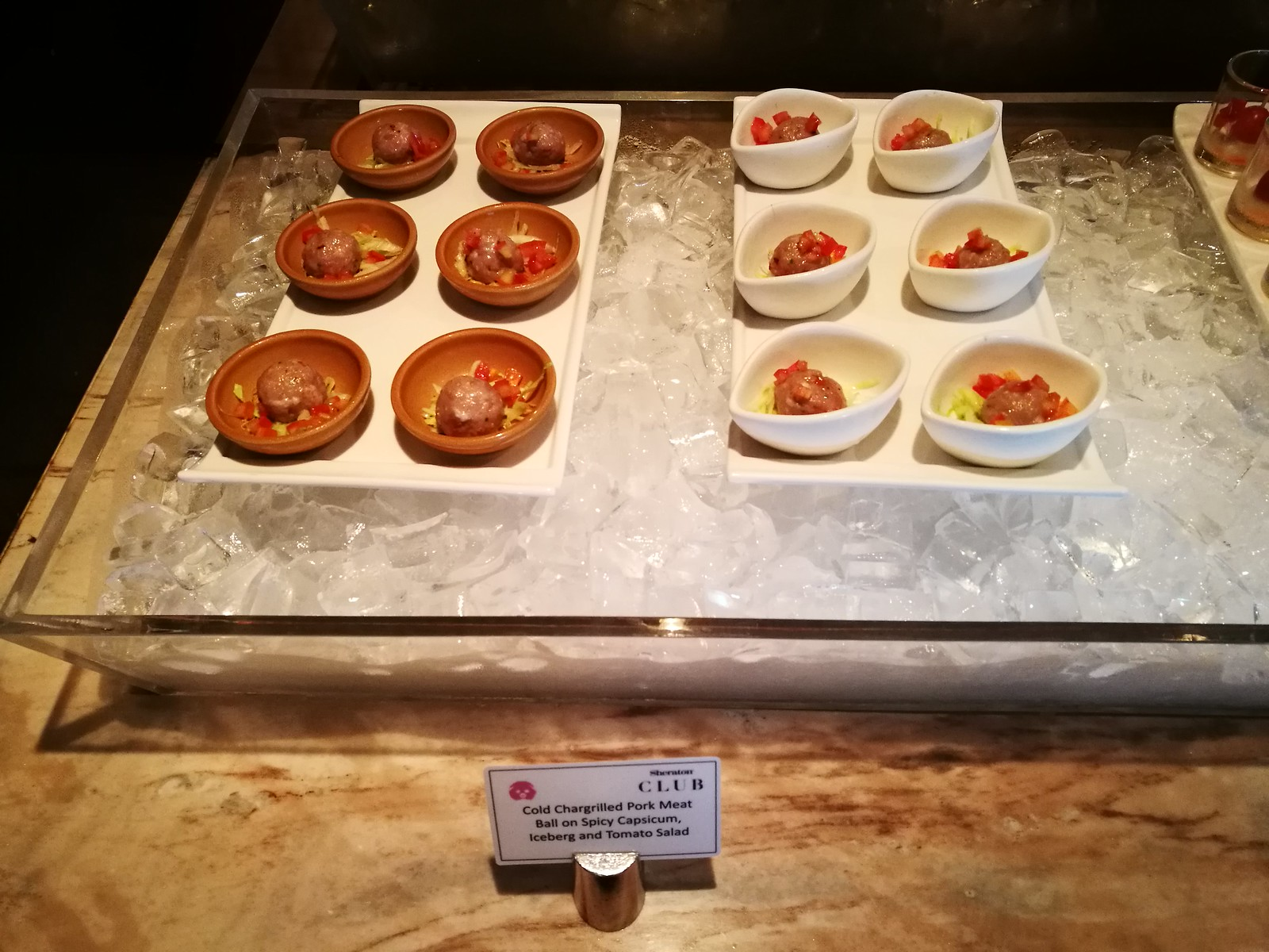 Pork meatball canapes