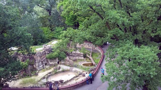 Blick vom Bikini auf den Zoo