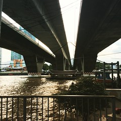King Taksin Bridge, Chao Phraya River - Bangkok