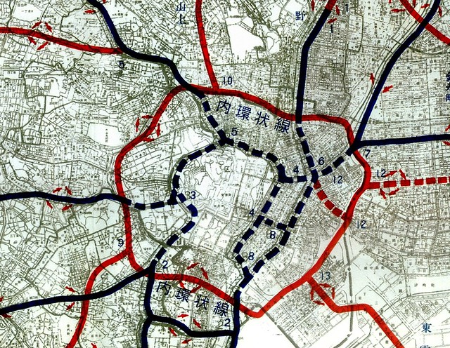 首都高速道路内環状線計画図