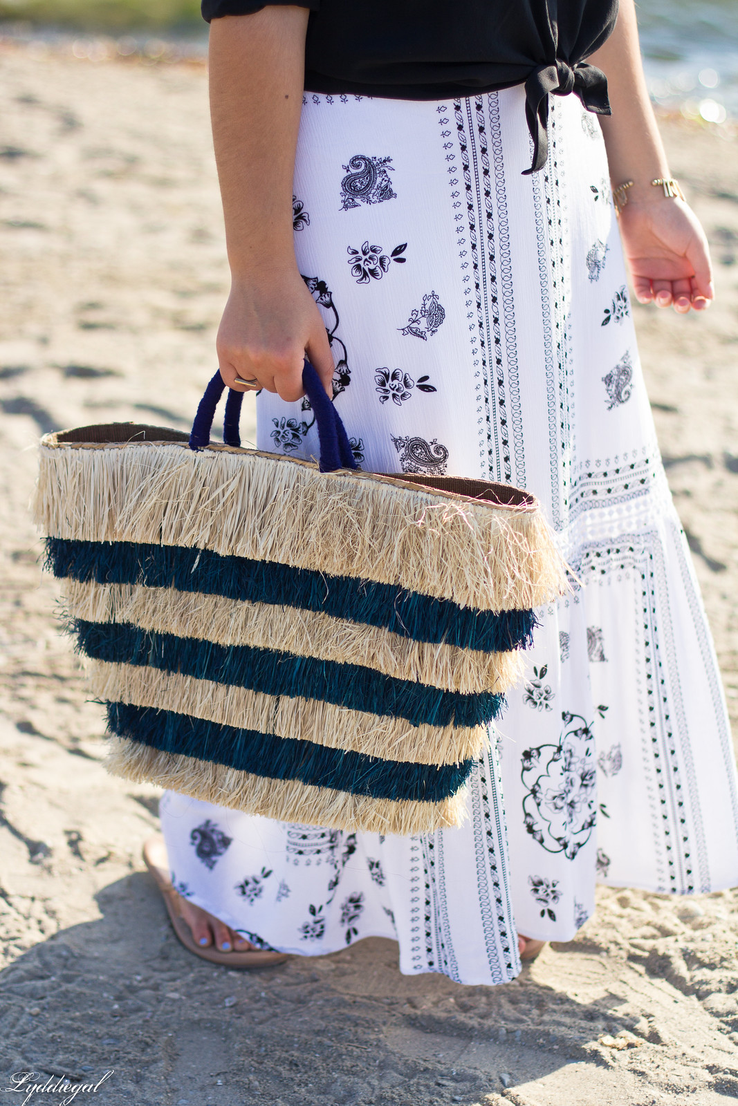 black button down, bohemian maxi skirt, kayu pinata tote-6.jpg