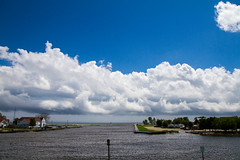 Clouds Over Two Rivers Harbor