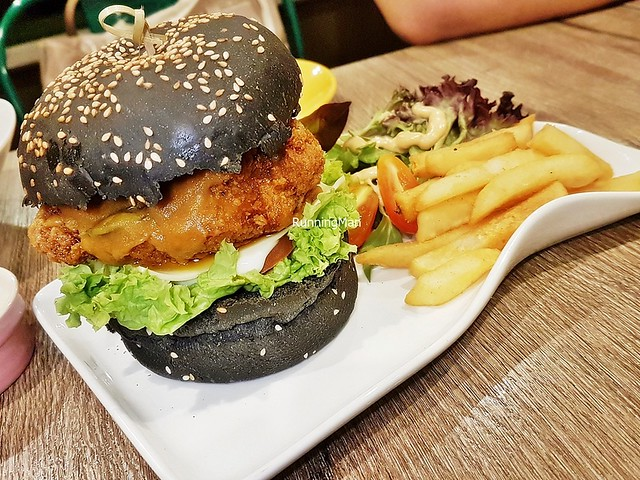 Salted Egg Chicken Burger