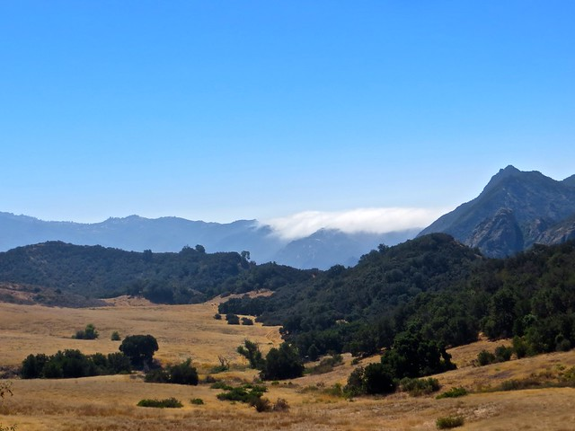 mountains block the marine layer