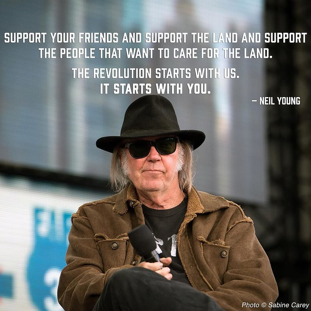 #WednesdayWisdom from Farm Aid co-founder and board member Neil Young.